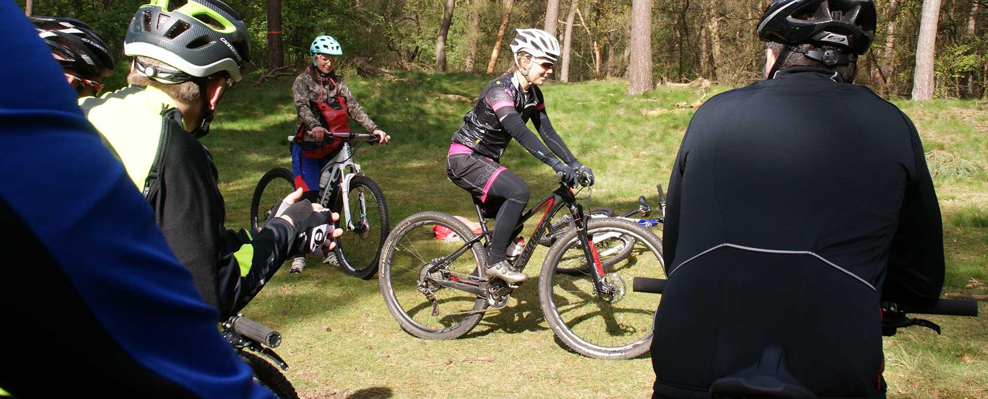 Mountainbike clinic met Sanne van Paassen